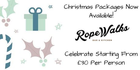 Christmas Dining At Ropewalks Bar And Kitchen tickets