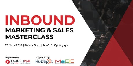 Inbound Marketing and Sales Masterclass  tickets