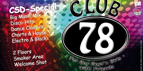 "Club78 ""CSD Spezial"" tickets"