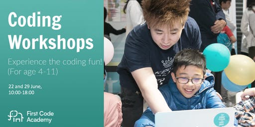 First Code Academy Coding Workshops (22 and 29 June)