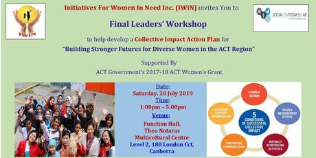 Leaders Workshop 3: Building Stronger Futures for Diverse Women in the ACT tickets