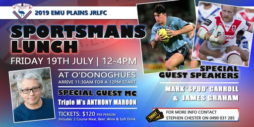 2019 Emu Plains JRLFC Sportsman's Lunch