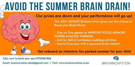 Avoid the Summer Brain Drain!-Brainnovation Limited tickets