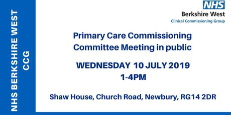 Primary Care Commissioning Committee (PCCC) - 10 July 2019 tickets