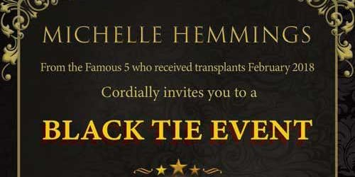 Michelle Hemmings fundraising and awareness event