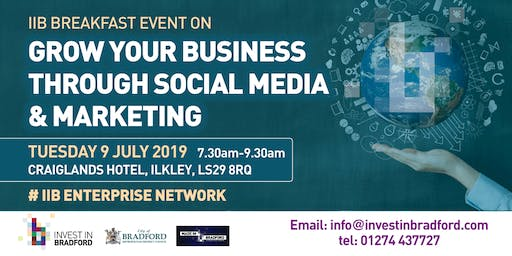 Grow your business through social media and marketing.