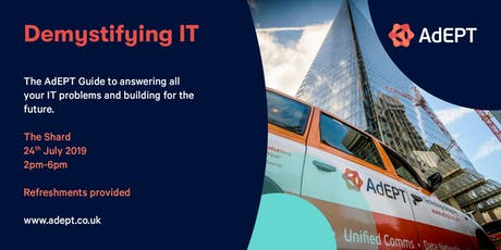 Demystifying IT - AdEPT's Guide to Available Technology and Best Practice for your Business tickets