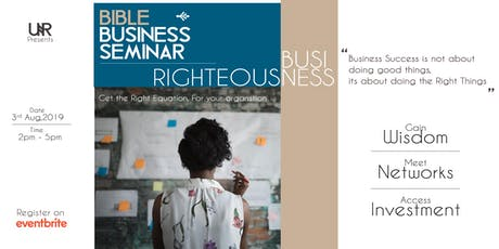 Bible Business Seminar tickets