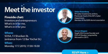 Meet the Investor - what's in it for me, what's in it for you- Fireside chat  tickets