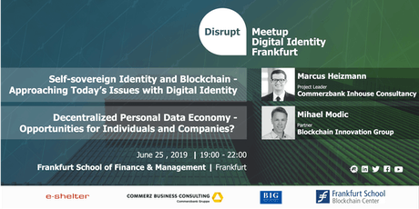 Disrupt Meetup | Blockchain Based Digital Identity Systems Tickets