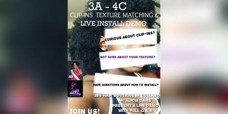 3A -4C Clip-ins Texture Matching & Live Install Demo  tickets
