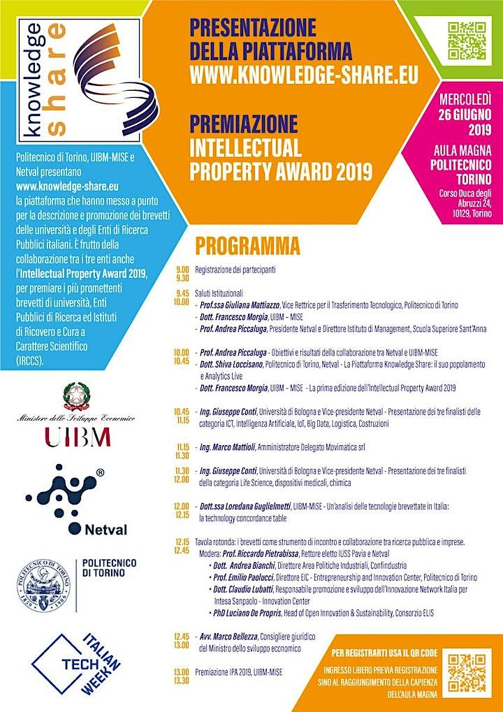 Immagine Italian Tech Week | Presentazione Knowledge-Share e premiazione IPA 2019