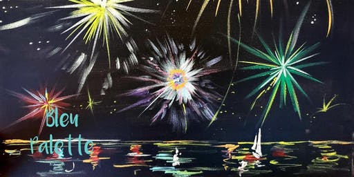 Kids Fireworks Painting