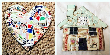 Mosaic for Beginners using Vintage Crockery - Learn to make a Mosaic Home Decor Item tickets