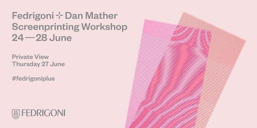 Fedrigoni + Dan Mather Screenprinting Workshop