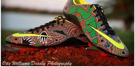 Paint your footy boots, sandshoes or T-shirts in Indigenous colours