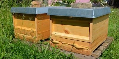 Wir bauen Insektenhotels am Naturhof Witten