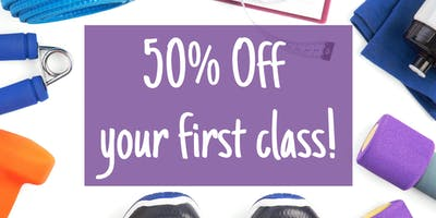 50% Off your First Class!