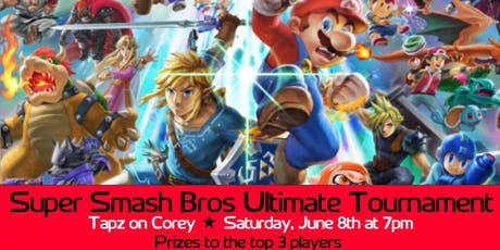 Super Smash Bros Ultimate Tournament at Tapz on Corey 07/13 tickets