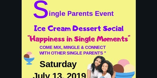 Ice Cream Dessert Social for Single Parents