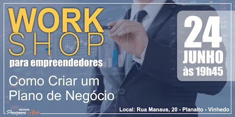 Workshop para Empreendedores - Como Criar um Plano de Negócio ingressos