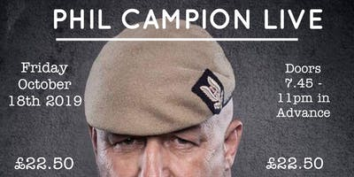 AN EVENING WITH BIG PHIL CAMPION FORMER SAS  At Dartford, Kent 18/10/2019