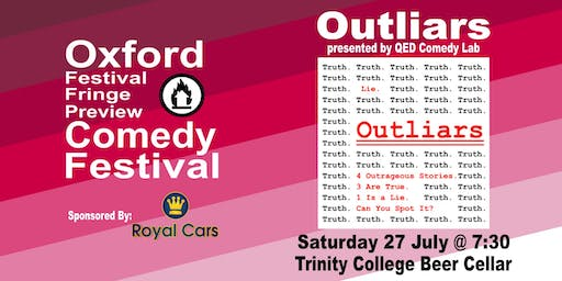 Outliars at the Oxford Festival Fringe Preview Comedy Festival