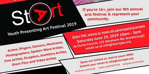 Call for artists: StArt YPA Festival
