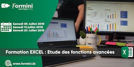 Formation EXCEL: Etude des Fonctions Avancées - Juillet 2019 billets