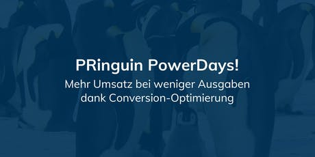 PRinguin PowerDay - Conversion-Optimierung Tickets