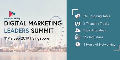 Digital Marketing Leaders Summit Singapore 2019 tickets