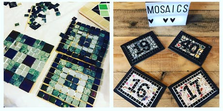 Copy of MAKE A MOSAIC DOOR NUMBER PLAQUE OR COASTERS - USING VINTAGE CROCKERY tickets