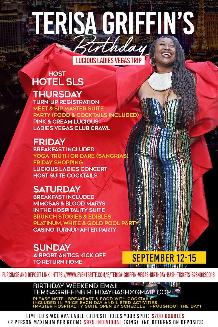 410802194a Terisa Griffin Vegas Birthday Bash Tickets, Thu, Sep 12, 2019 at 7 ...