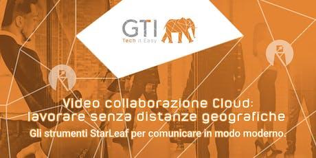 Video collaborazione Cloud: lavorare senza distanze geografiche. biglietti
