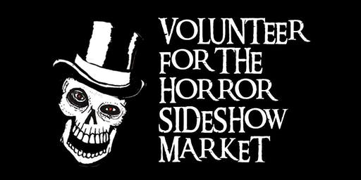 Volunteer Registration HORROR SIDESHOW MARKET SEPTEMBER 2019