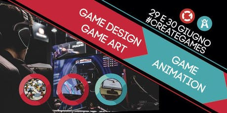 Presentazione corsi Game Design, Game Art e Game Animation | Open Day biglietti