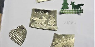 Pewter Christmas decoration making