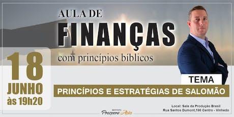 Aula de Finanças com Princípios Bíblicos . ingressos