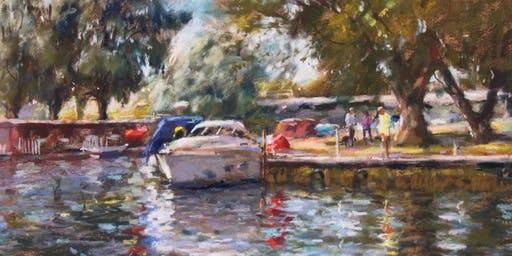 A  Brush with the Broads 2019 - John Patchett;Pastelist - Evening Demonstration