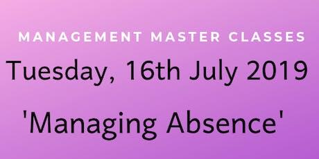 Managing Absence - Cutler & Co Masterclass tickets