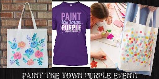 (ELGIN)*XL T-shirt*Paint the Town Purple Family Paint It!Event-7/19/19 6-7pm