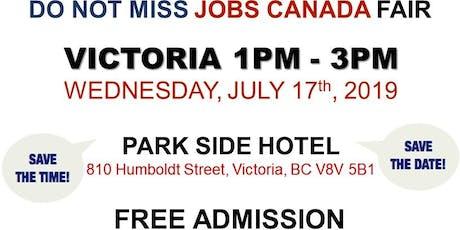 FREE: Victoria Job Fair –  July 17th, 2019 tickets