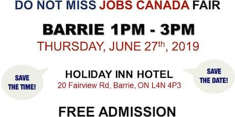 FREE: Barrie Job Fair – June 27th, 2019 tickets