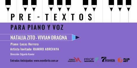 Pretextos para piano y voz con Natalia Zito y Vivian Dragna II entradas