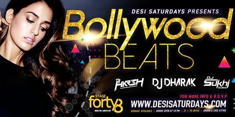 Bollywood Beats @ Stage48 NYC - A Weekly Saturday Night DesiParty tickets