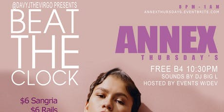Annex Thursdays Presented by: @DavyJTheVirgo tickets