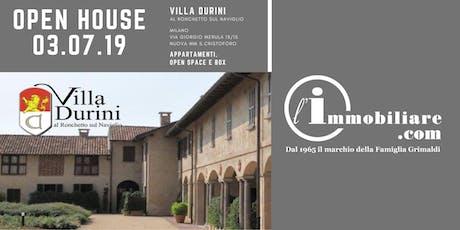 OPEN HOUSE VILLA DURINI al Ronchetto sul Naviglio | MILANO MM S.Cristoforo biglietti