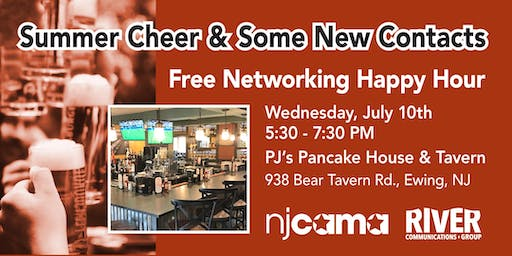 Summer Cheer and Some New Contacts: Free NJCAMA Happy Hour & Networking Event July 10
