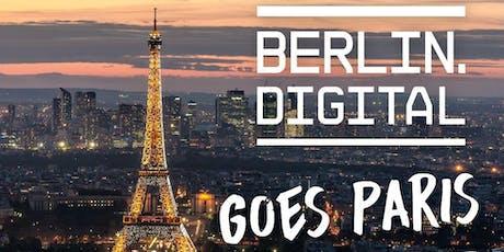 """berlin.digital goes Paris - Delegationsreise Thema """"künstliche Intelligenz"""" billets"""