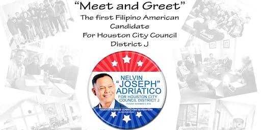 """Meet and Greet""  The first FilAm Candidate for Houston City Councilor"